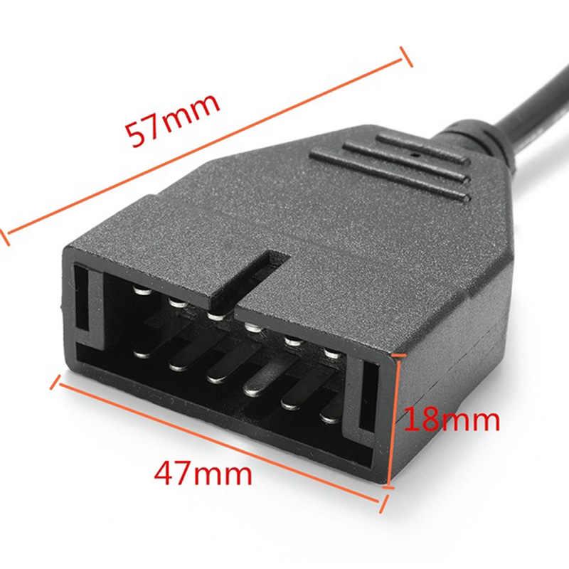 2019 yeni OBDII OBD 2 konnektör adaptörü için GM 12 Pin GM12 16 Pin otomatik teşhis kablosu GM için araçlar autoscanner adaptörü