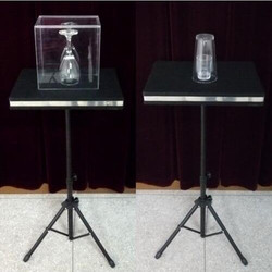 Two in One Glass Breaking Table Coin Into Glass- Remote Control Magic Tricks Magician Stage Illusions Mentalism Gimmick Props