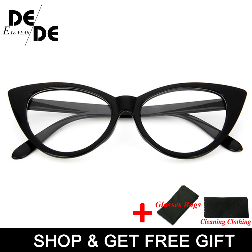 New Sexy Cat Eye Optical Glasses Women Transparent Eyewear Brand Designer Vintage Clear Eyeglasses Frame