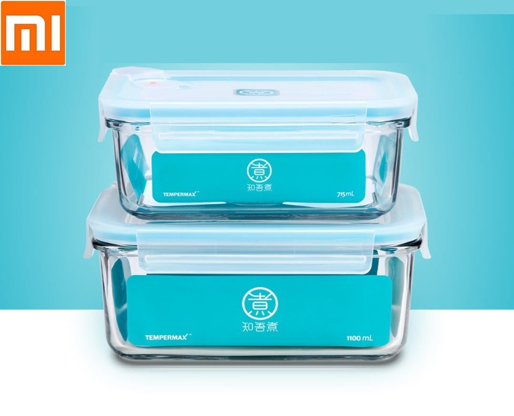 New Tough Glass Crisper Strong Seal Home Office Lunch Box Heat Resistant Tempering Strong And Sturdy Glass Crisper