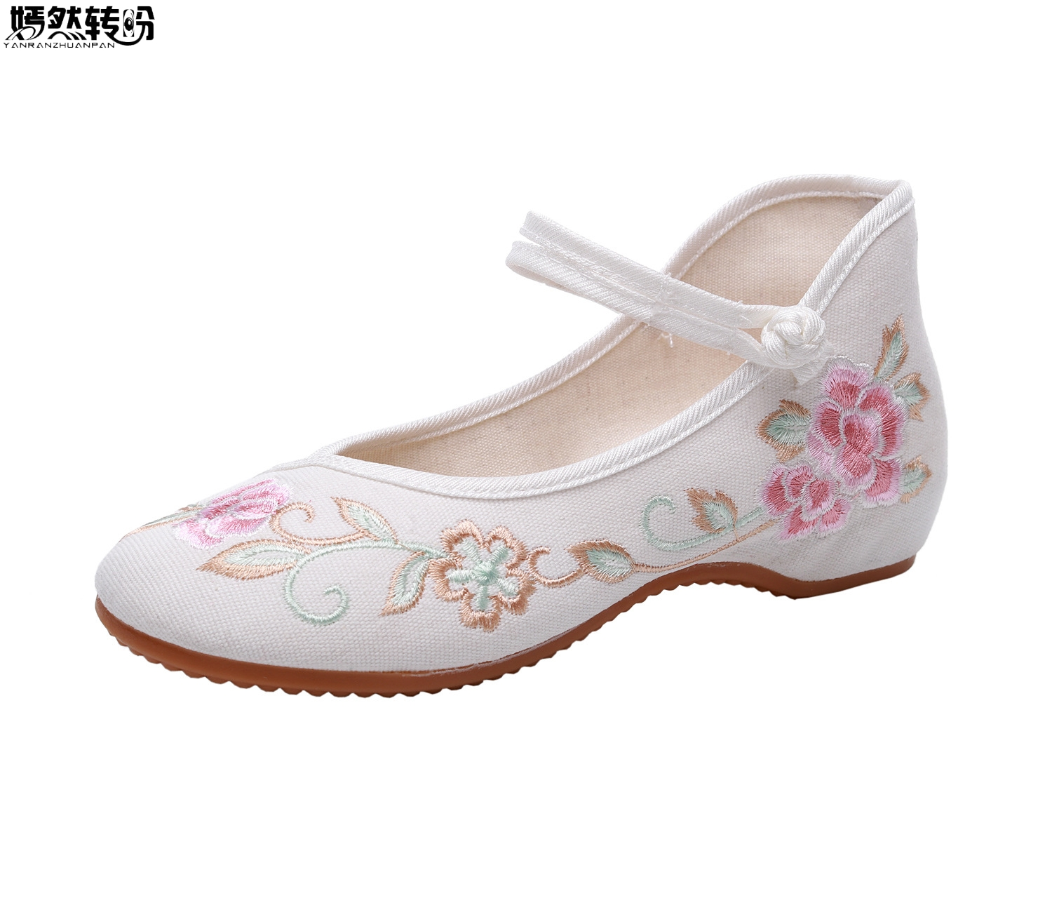 2020 Spring Summer Woman Flat Shoes Vintage Flowers Embroidery Shoes Women Chinese Old Peking Casual Cloth Dancing Shoes