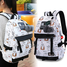 butterfly Pattern School Bags for Teenage Girls Kids Canvas Children Student Backpack Teen Shoulder Bag Child Schoolbag cheap Fengdong zipper 46cm Cartoon SH-688 School Backpack 17cm 29cm