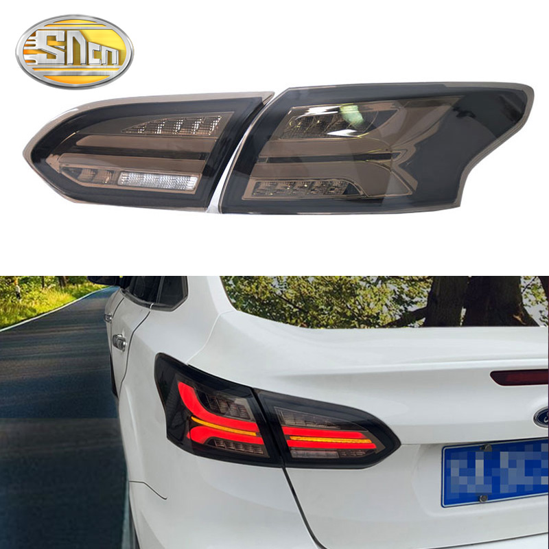 Rear Fog Lamp + Brake Light + Reverse + Dynamic Turn Signal Car <font><b>LED</b></font> Tail Light Taillight For <font><b>Ford</b></font> <font><b>Focus</b></font> 3 <font><b>MK3</b></font> Sedan 2015 - 2018 image
