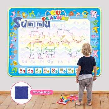 Magic Water Drawing Mat Big Size Kids Doodle Mat with 3 Pens Coloring Doodle Carpet Painting Drawing Writing Board Children Toys kid water drawing mat doodle board
