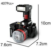 Nova chegada câmera blocos de construção fy2a eus modelo câmera digital kit montagem mini blocos brinquedos criativos para as crianças presente
