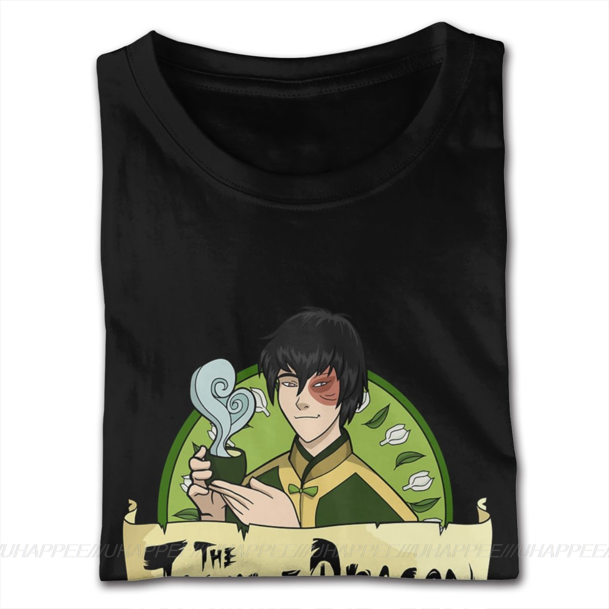 80s The Jasmine Dragon Tees Avatar The Last Airbender Tee Shirts T Shirts For Boyfriend Plus Size Black Shirt