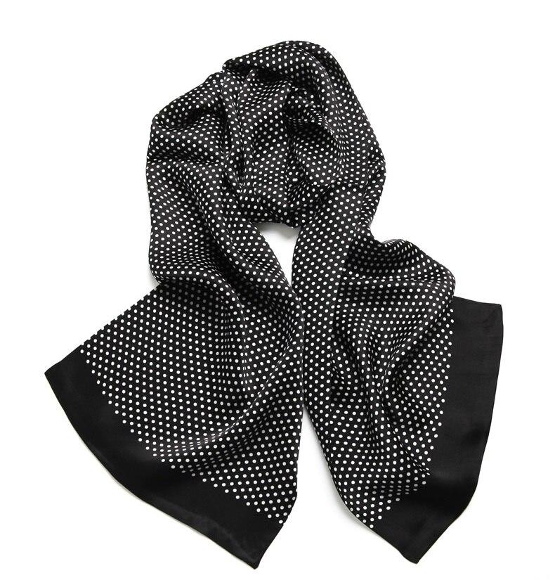 Elegant Men's 100% Pure Silk Scarf Double Layer Long Neckerchief Blue Red Black(China)