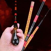 2.7m 4.8m Taiwan Fishing Rod Carbon Fiber Telescopic Fishing Olta Hand Peche Feeder for Carp Fishing Stick Vara De Pesca Tackles