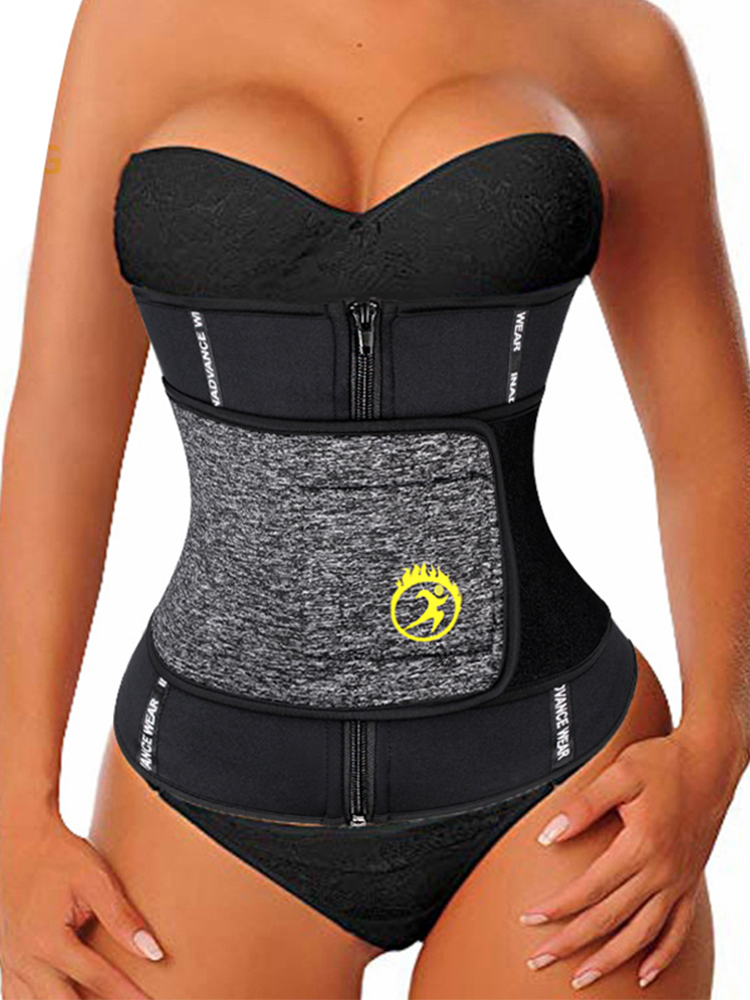 LAZAWG Corset Underbust Sweat Body-Shaper Waist-Trainer Weight-Loss Sport-Cincher Tummy-Control