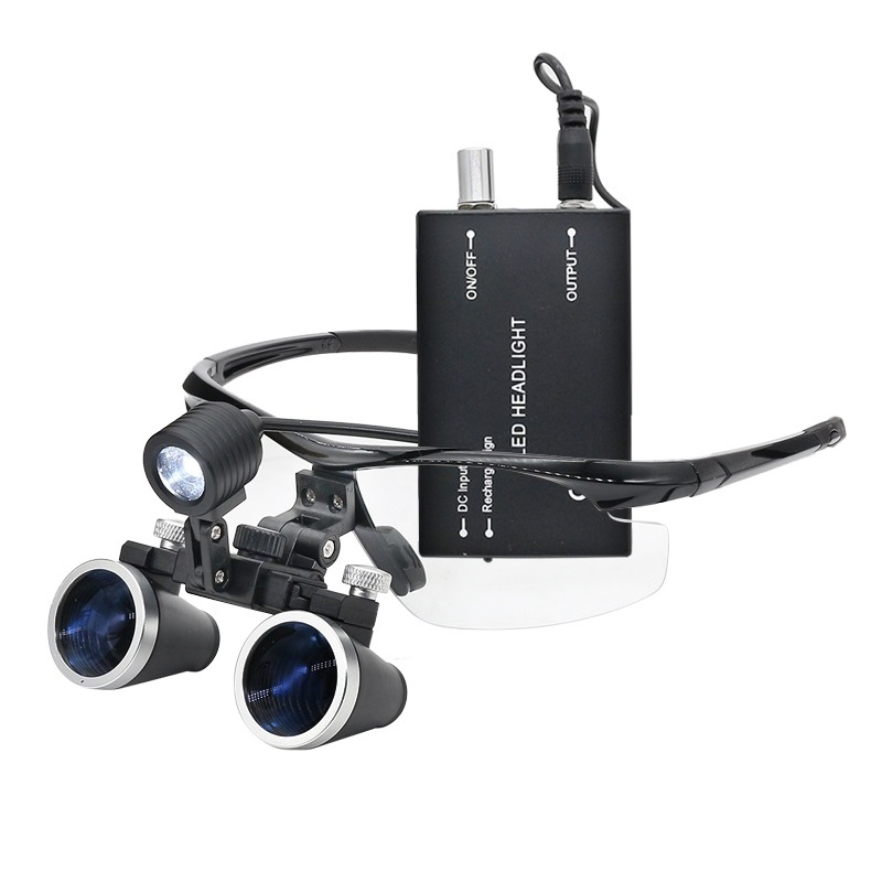 Binocular Light Operation 5X 3 Magnifier Magnification 2 Lamp Surgical 5X Headlight LED Loupe Loupe Surgery Dental With