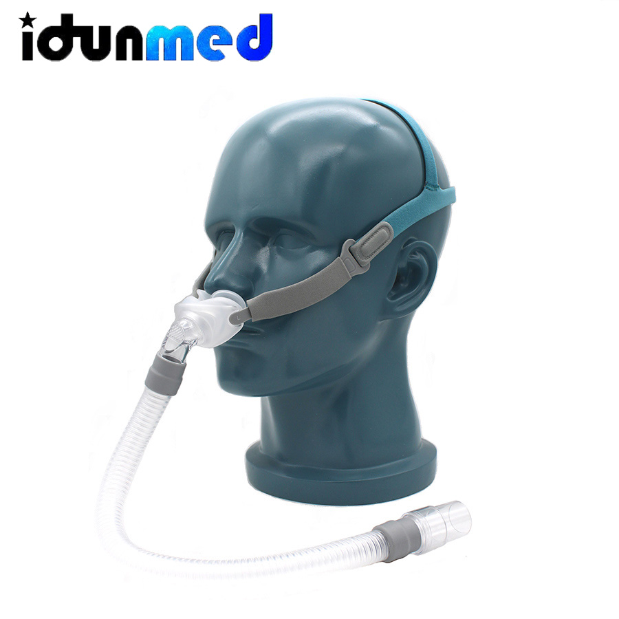 BMC CPAP poduszka do nosa maska z 3 rozmiarami poduszki do chrapania snu i bezdechu