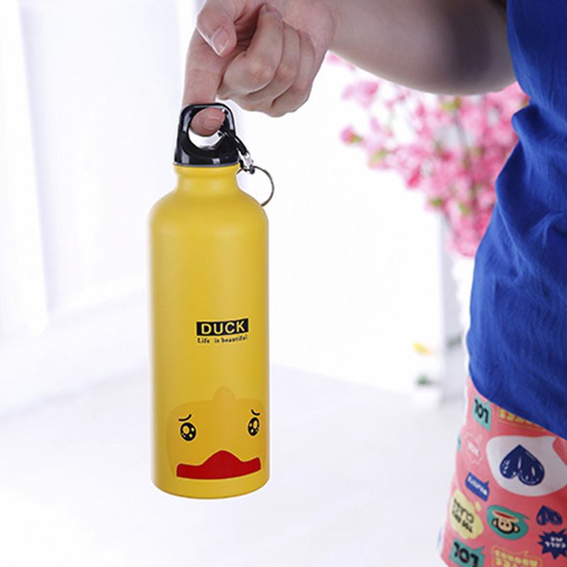 500ml Cartoon Animal Aluminum Alloy Kids Cycling Bike Water Bottle  Outdoor Travel Sports Camping Hiking Water Bottles 5
