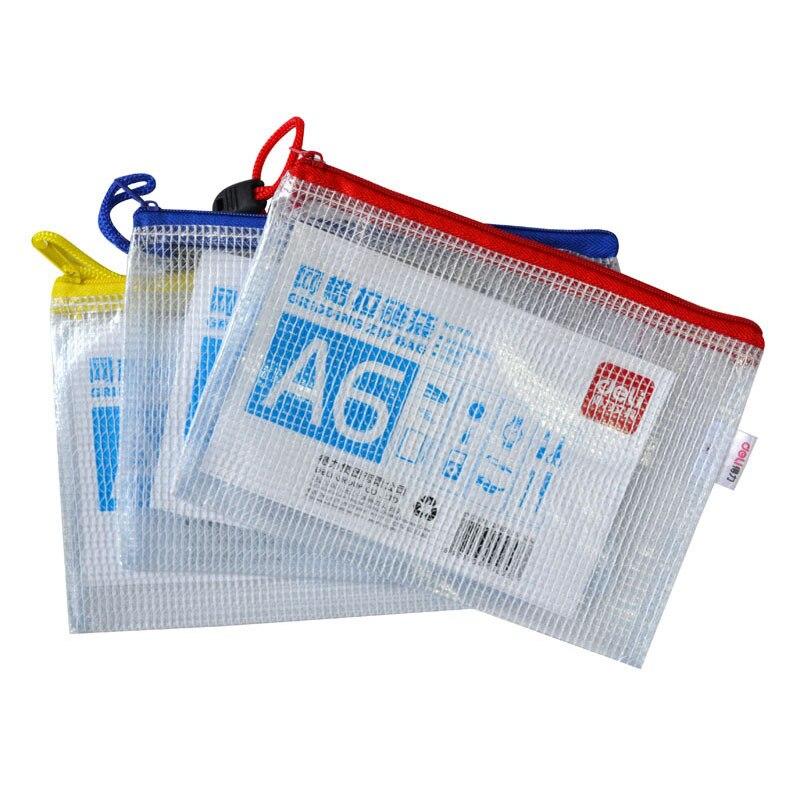 Deli (Deli) 5658-A6 Small Grid Zipper Bag 5658 Zipper Bag File Holder