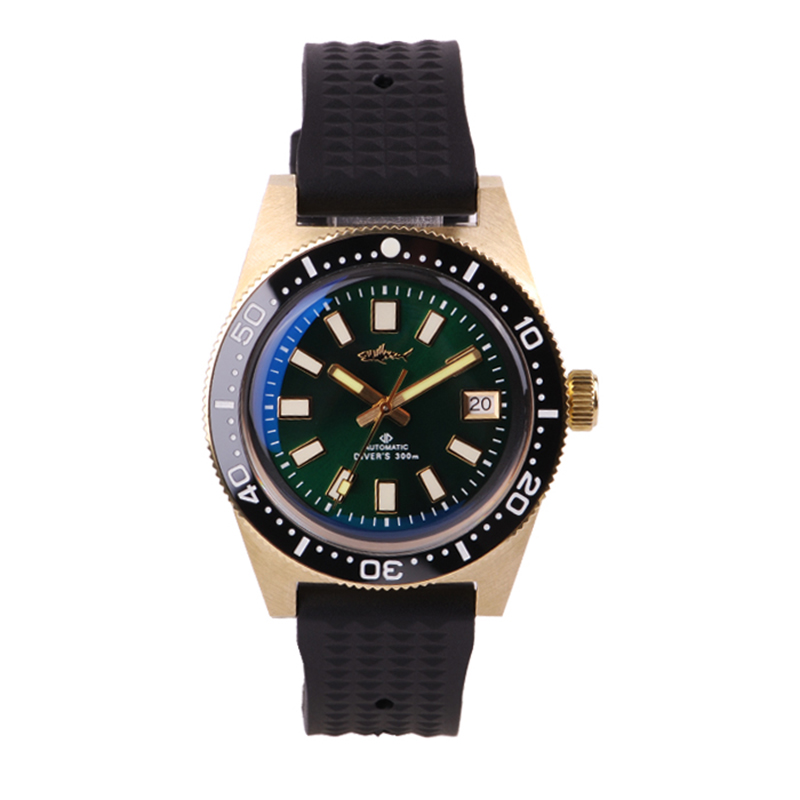 Men's Vintage Bronze 62MAS Diving Watches Mineral Glass 300 mters Water Resistance NH35 MOV'T Fashion Automatic Men Wrist watch