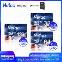 Netac карта памяти Micro SD карта 32 Гб 64 Гб 128 ГБ 256 Гб класс 10 USB флеш-накопитель карта памяти для смартфона адаптер