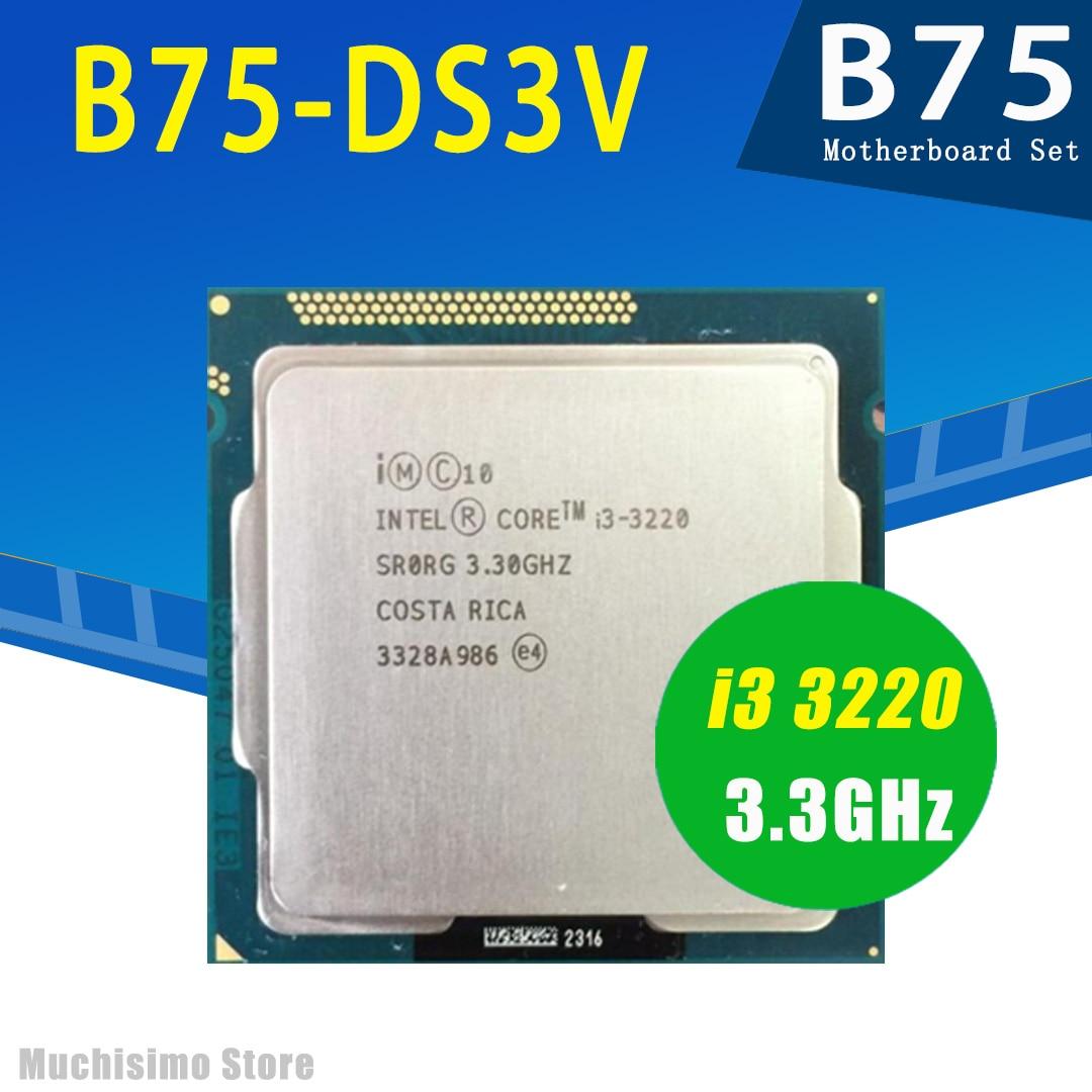 Gigabyte GA-B75-DS3V placa-mãe com cpu intel core