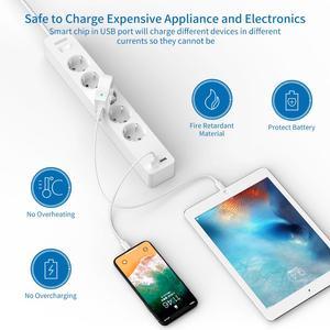 Image 5 - NTONPOWER الحائط USB قطاع الطاقة عرام حامي مع 3/5 منافذ 2 USB تمديد المقبس الاتحاد الأوروبي التوصيل ل شبكة المنزل تصفية