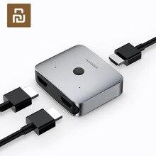 Youpin Hagibis 2 Chiều HDMI Phân Phối Switcher Hỗ Trợ HD 4K Thích Hợp Cho Giao Diện HDMI Thiết Bị