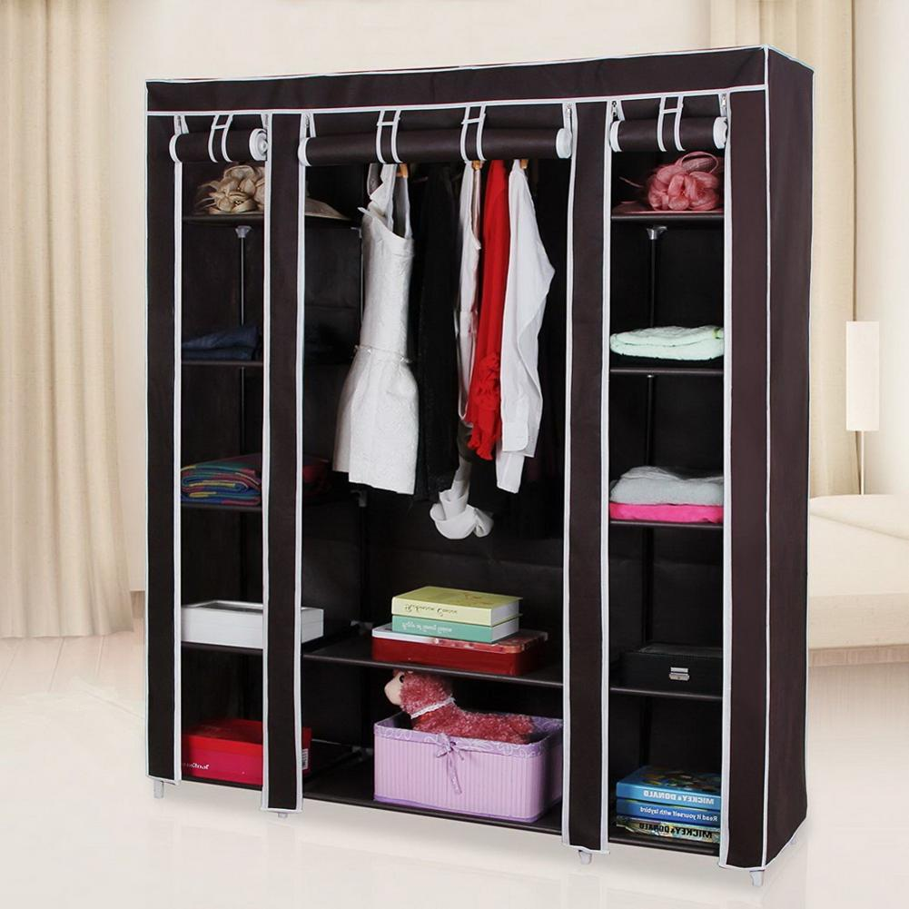 Portable Clothes font b Closet b font Wardrobe Storage Organizer with Non Woven Fabric Quick and