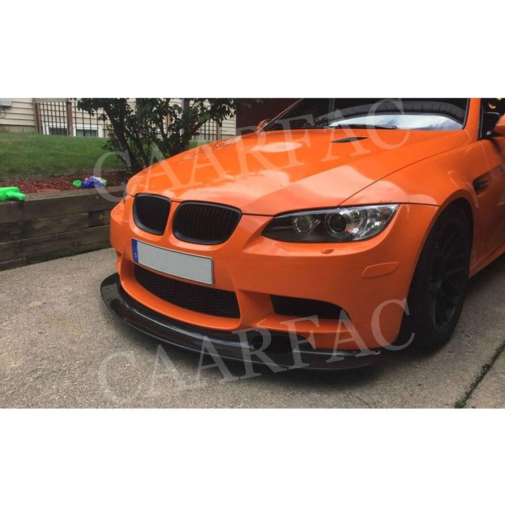 De fibra de carbono labio delantero parachoques Spoiler para BMW Serie 3 E90 E92 E93 M3 cabeza Protector de barbilla 2009 de 2010 a 2011 2012 estilo de coche - 2