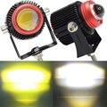 JALN7 20 Вт водить мотоцикл рабочий светильник двойной Цвет Hi/короче спереди и длиннее сзади) ЛУЧ Точечный светильник Мини объектив автомобиле...