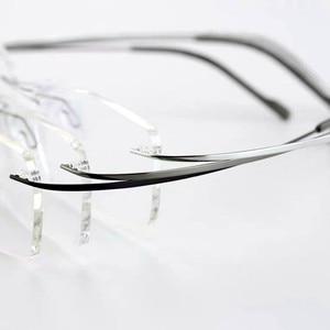 Image 4 - Очки без оправы из чистого титана, Гибкая оптическая оправа, безрамные очки по рецепту, очки 010 Line Temple