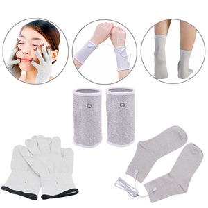 Image 4 - Russian/English Electrical Muscle Relax Stimulator Therapy Massager 16 Pads Pulse Tens Acupuncture Pain Relief Glove Sock Bracer