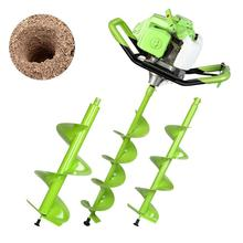 Earth Augers Garden Planting Machine Earth Drill Post Hole Digger Auger Drill with Three Earth Auger Drill for Planting Trees
