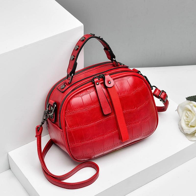 New 2019 Fashion Women Bag One-shoulder Leather Handbags Korean Shoulder Bag Small Flap Crossbody Bags For Women Messenger Bags