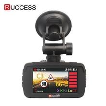 "RUCCESS 2.7 ""Ambarella DVR 3 ใน 1 เครื่องตรวจจับเรดาร์ GPS เครื่องบันทึกวิดีโอ Full HD 1080 P กล้องความเร็วสำหรับบันทึก Registrar"