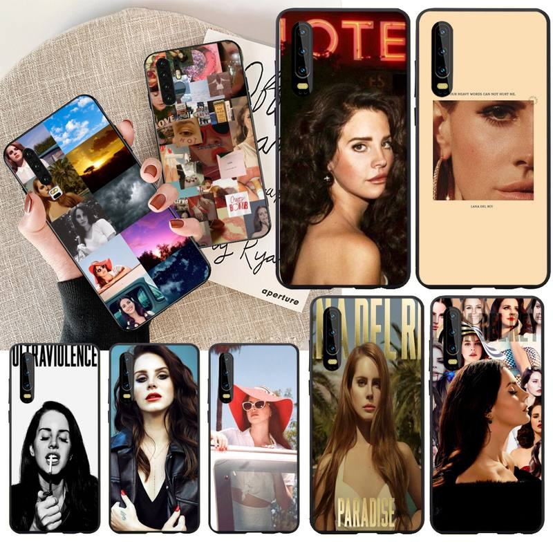 PENGHUWAN <font><b>Sexy</b></font> singer model Lana Del Rey Soft Silicone Black Phone Case for Huawei P30 P20 <font><b>Mate</b></font> <font><b>20</b></font> Pro Lite Smart Y9 prime 2019 image