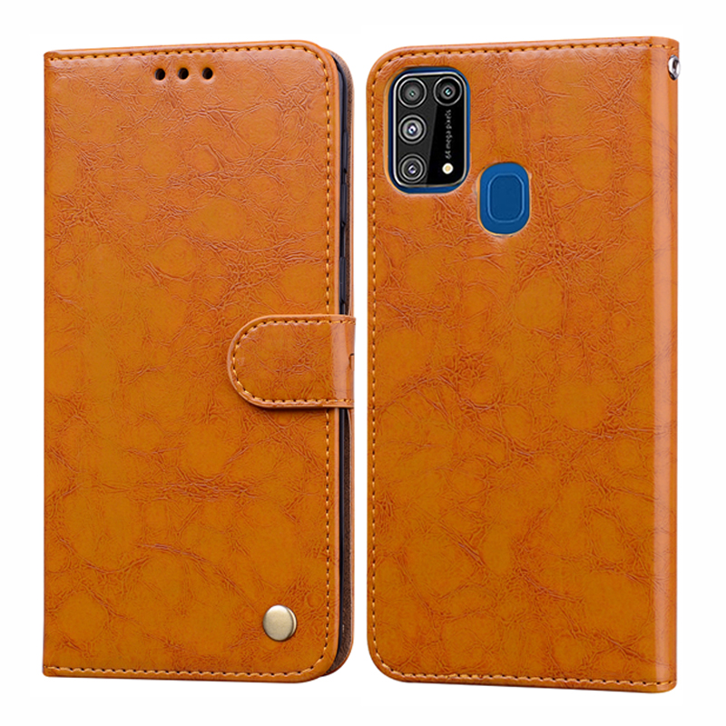 Retro Leather Wallet Flip Case for Samsung Galaxy M a 21 30 31 10 S 20 11 41 91 81 71 51 01 70 20e 60 <font><b>50</b></font> <font><b>40</b></font> 9 8 7 6 2018 Cover image