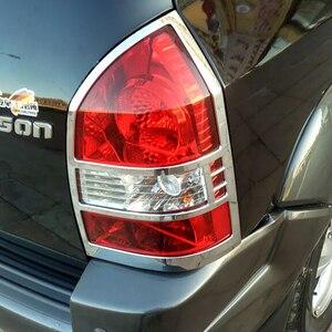 Image 4 - משלוח חינם ABS Chrome אחורי פנס מנורת כיסוי Trim 2 יח\סט עבור 2005 כדי 2012 עבור יונדאי טוסון