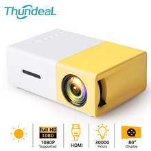 Thundeal yg300 mini projetor led tft suporta 1080p hdmi-compatível usb tf áudio projetor portátil casa media player de vídeo