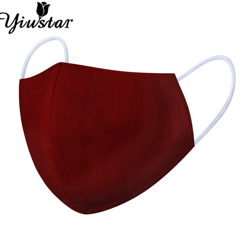 Yiustar Red Color Anti Dust Mouth Mask Fashion Floral Adjust Reusable Washable Dustproof Soft Face Mask Breathable Femme Gift