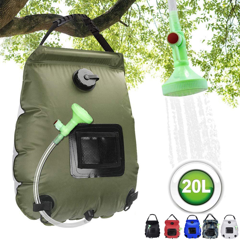 20L Solar Heated Shower Bag Portable Camping Outdoor Hiking Bathing Water Bag UK