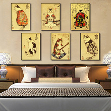 Home Decoration Canvas Painting Wall Art Pictures Prints Japanese Samurai Tattoo Cat Nordic Style Modular Poster For Living Room kitchen poster herb chopper pictures hd prints home wall art nordic style modular painting on canvas fresh for living room decor