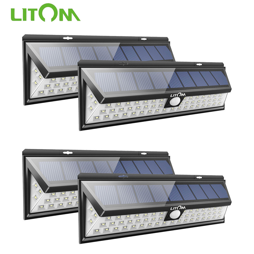 Litom 54 Led Solar Powered Light Motion Sensor Garden Pathway Lamp Waterproof