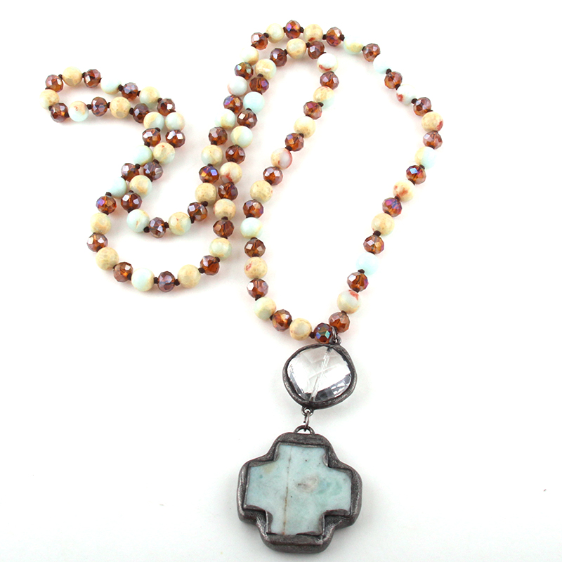 BIG SALE] Hot! Handcrafted hematite necklace natural beads