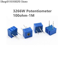 3266W 3266 100 200 500 ohm 1K 2K 5K 10K 20K 50K 100K 200K 500K 1M ohm 100R 200R 500R Trimpot Trimmer Potentiometer Resistance