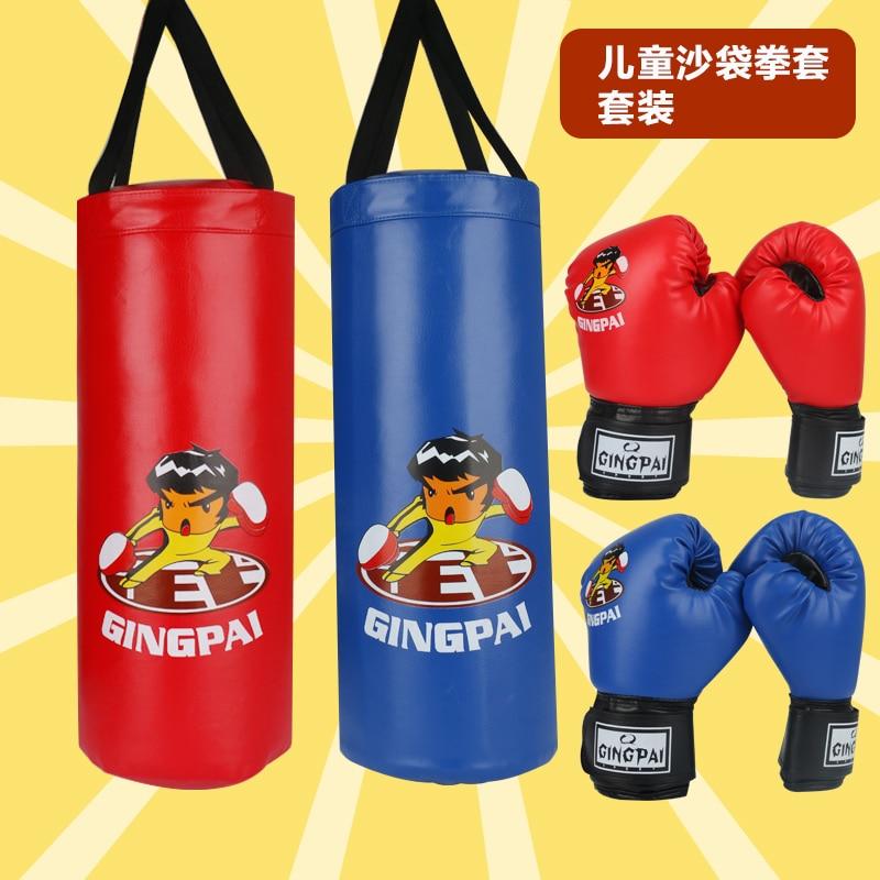 Crianças do Plutônio Bolsa de Areia de Boxe para Boxe Azul para Esportes Criança Lutando Engrenagem Protetora Indoor Treinamento Acessórios