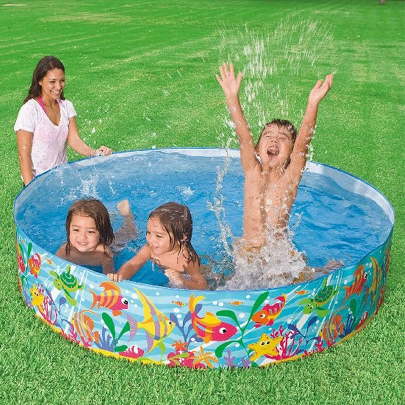 183x38cm Free Inflatable Tarpaulin Support Round Pool No Air Pump Pool Baby Hard Rubber Plastic Pool Children Bath Swimming Pool
