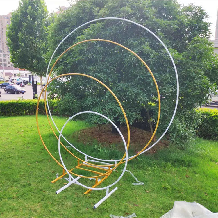 Metal Circle Round Arch Balloon Flower Iron Ring Background Arch Frame Stand Wedding Mariage Birthday Party Backdrop Decor