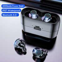 Casque sans fil IPX7 étanche contrôle tactile 9D TWS Bluetooth 5.0 stéréo écouteurs sport écouteurs casques avec Microphone