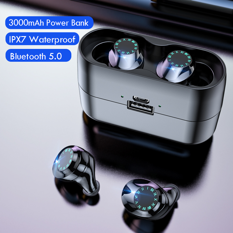 Беспроводные наушники IPX7 водонепроницаемые с сенсорным управлением 9D TWS Bluetooth 5,0 стерео наушники спортивные наушники гарнитуры с микрофоном Наушники и гарнитуры      АлиЭкспресс