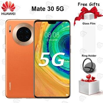 Перейти на Алиэкспресс и купить Новый оригинальный Huawei Mate 30 5G мобильный телефон 6,62 дюйм6 ГБ ОЗУ 128 Гб ПЗУ Kirin 990 Android 10 40MP тройные задние камеры смартфона