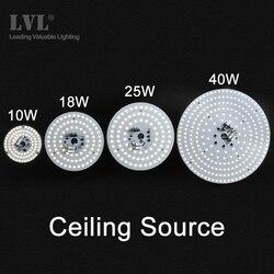 Plafonnier LED 6/10/18/25/40W Source de lampe de plafond de modification pour le remplacement salon cuisine salle de bains Led éclairage de plafond