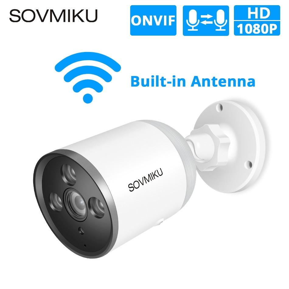 HD 1080P WI-FI Câmera IP Bala ONVIF Ao Ar Livre À Prova D' Água 720P Câmera de Segurança CCTV Áudio em Dois Sentidos Remoto APP vista Do Cartão Do TF