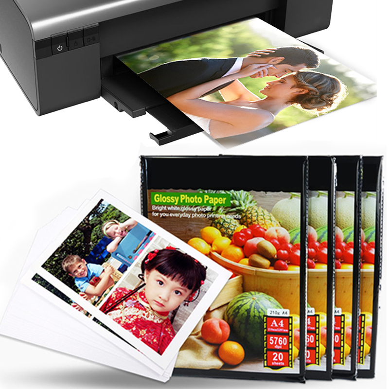 Printer Photo Paper Photo Paper Photo Paper Sticker High Glossy RC Inkjet Printers Office Quick-Drying A4 4R Professional image