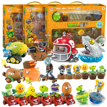 цена на Plants Vs Zombies Pvc Action Figure Set Collectible Mini Figure Model Toy Gifts Toys For Children High Quality Brinquedos No Box